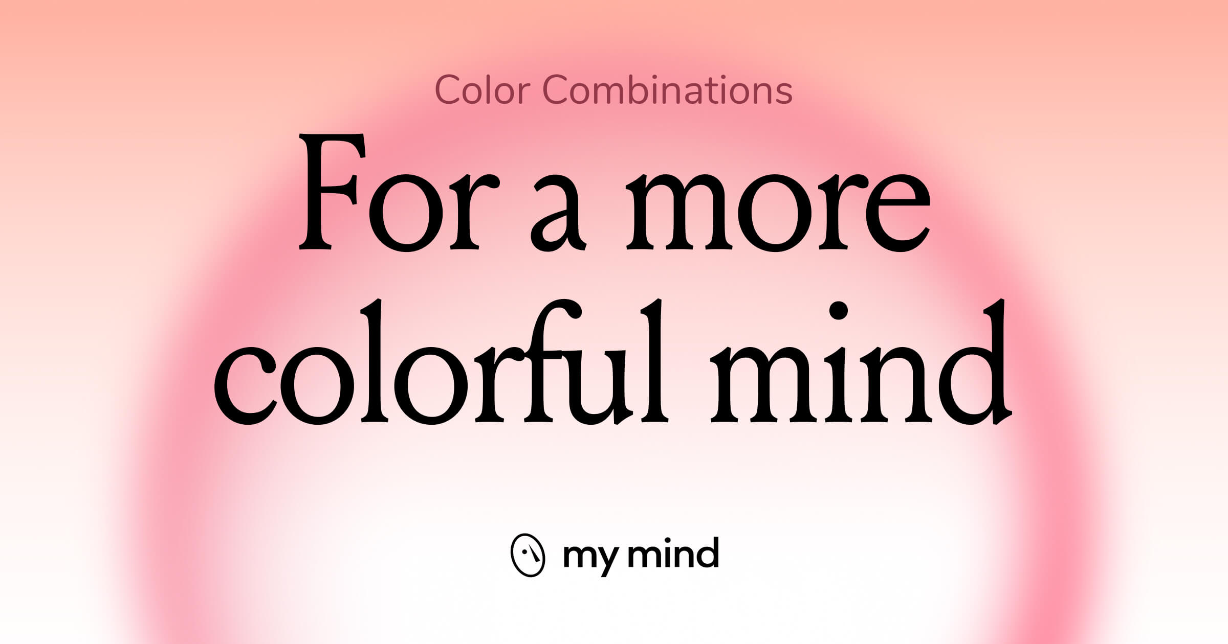 Mindfully curated color palettes